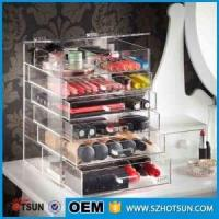 Wholesale For wholesalers acrylic makeup organizers cosmetic drawer box from china suppliers