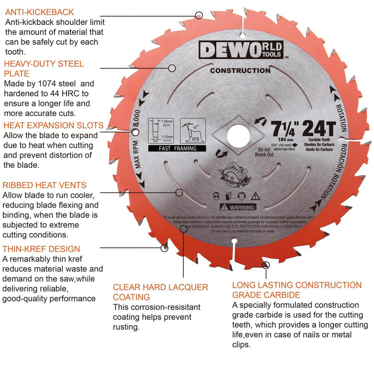 Buy cheap Construction Thin Kerf Blades Construction Saw Blade Features from wholesalers