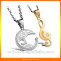 Wholesale Music Style Romantic Couple Pendants Necklace Jewelry GX822 from china suppliers
