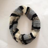 Wholesale Women multi feather yarn&chenille strip snood from china suppliers