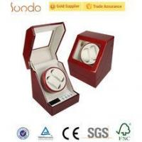 Wholesale Red glossy custom printing wooden watch winder box from china suppliers