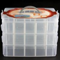 Wholesale Makeup Storage Case Box Holder Organizer Container 3 Layers 30 Grids from china suppliers