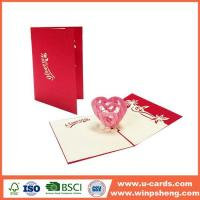 Buy cheap Different Types 3d Heart Pop Up Valentines Card Template Free from wholesalers
