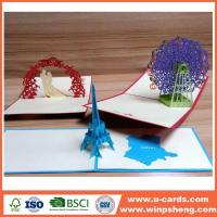 Buy cheap BSCI Handmade Chrsitmas Pop Up Cards Supplier from wholesalers