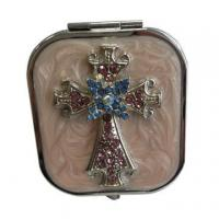 Wholesale Jeweled Cross Makeup Mirrors from china suppliers