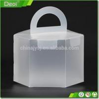 Clear plastic food packing box for cake small clear folding Customized