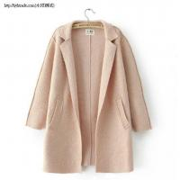 Wholesale O7-25Bat sleeve collapse shoulder loose woolen coat from china suppliers