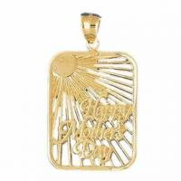 Wholesale 14K Yellow Gold Happy Mothers Day Pendant from china suppliers