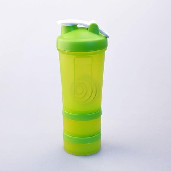 Protein Shaker Compartment: Wholesale 450ML 3 Compartment Protein Cheap Shaker Bottle