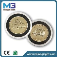 Wholesale Promotion 3D metal gold coin with plastic box from china suppliers