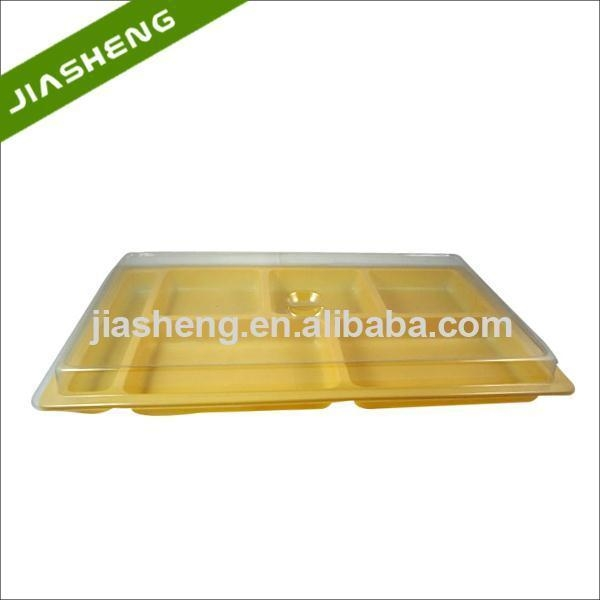 5 Compartments PP Plastic Food Blister Packaging Tray With Clear PET Lid of item 48262146