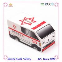Plastic ambulance shaped money box