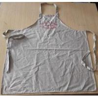 Wholesale Apron high quality wedding/customized 100% cotton vintage apron in beige color with embroidery from china suppliers