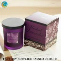 Flamless luxury soy scented candles glass jars