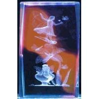 "Wholesale 3"" 3D Laser Crystal Cube, Fairy on dragonfly w/ Color Background from china suppliers"