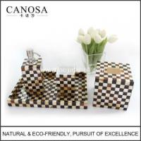 Wholesale Handmade Pen Shell and Golden Seashell Bathroom Sets from china suppliers