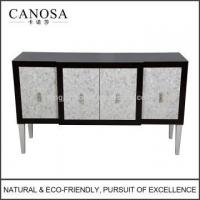 Wholesale CANOSA ECO-friendly Seashell Inlaid Storage Cabinet with Wood Pedestal from china suppliers