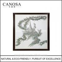 Wholesale CANOSA Shell hand engarving phoenix Wall Picture with wood frame from china suppliers