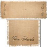 "China 36"" Give Thanks Burlap Runner (13x36"") wholesale"