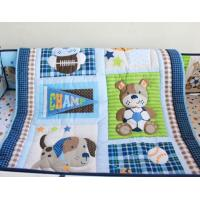 Lovely Animal Dog And Bear Cartoon Patchwork Quilt Cover