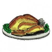 Wholesale Cooked Turkey Dinner Embroidery Design from china suppliers