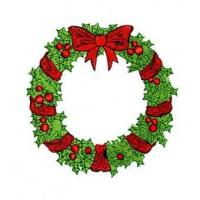 Wholesale Christmas Wreath Embroidery Design from china suppliers