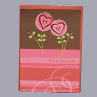 Buy cheap love theme printed greeting cards from wholesalers