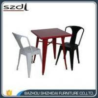 new design colorful metal dinning table TMT-001