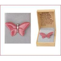 Wholesale Carved Rhodonite Butterfly Pin from china suppliers