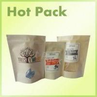 Wholesale Organic Kraft Paper Stand Up Pouches With Zipper And Window For Snack / Chia Seed from china suppliers