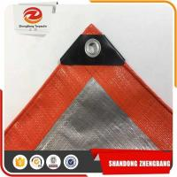 Wholesale Flame Retardant Sun Proof 12 Mil Poly Tarpaulins Reinforced Dee Ring Tarp from china suppliers