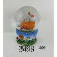 Wholesale Chicken Polyresin 100mm Easter Waterglobe With Egg Base from china suppliers