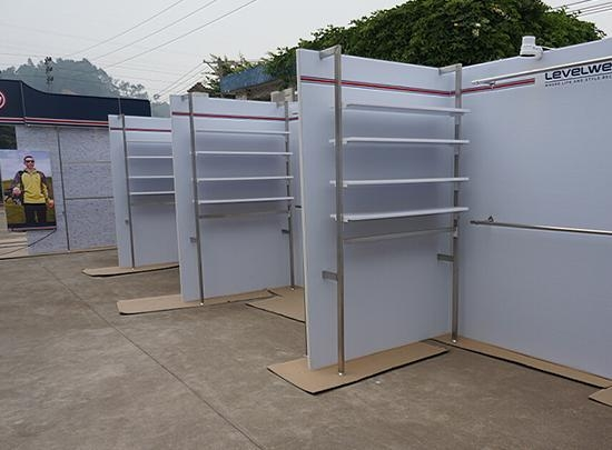 Trade Show Booth With Shelves : Custom made clothing advertising trade show booth with