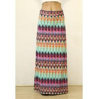 Wholesale Summer Multi-color Floral Print High Waist Beach Maxi Skirt Long Skirt from china suppliers