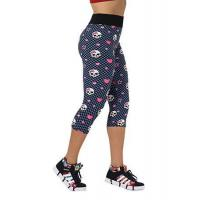 Wholesale Hot Sexy Women Fashion High Waist Skull Printed Workout Fitness Capri Leggings from china suppliers