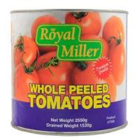 Canned Vegetables Tomato Whole Peeled - Royal Miller 6x2550g