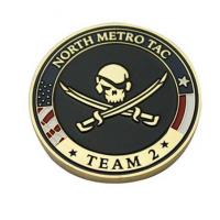Personalised North Metro TAC Coins Engraved State and Marine Corps Challenge Coins MC-017