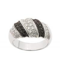 China Rings Black and White Diamond Ring on sale