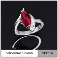 Wholesale Handmade Jewelry Cheap Wholesale Fashion Simple 925 Italian Silver Garnet Ring from china suppliers