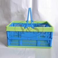 Wholesale Injection plastic folding basket, injection plastic vegetable/ fruit/washing basket mould, from china suppliers