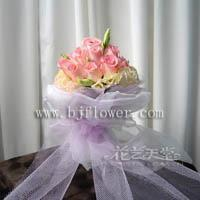 Wholesale Selection of pink roses and gentian Selection of pink roses and gentian from china suppliers