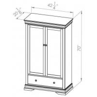Wholesale Bedroom Bayshore 1 Drawer Armoire from china suppliers