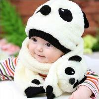 Wholesale 2016 Children's Baby Panda Hat (Cap+Scarf) from china suppliers