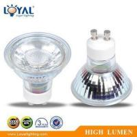 Wholesale High Efficiency IP20 Indoor No Glare Bridgelux COB 5W Gu10 Glass LED Spot Light from china suppliers