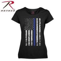 Wholesale Rothco Women's American Thin Blue Line Flag Longer T-Shirt from china suppliers