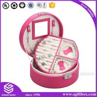 Wholesale Jewelry box Round Luxury Leather Fantastic Jewelry Box from china suppliers