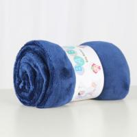 China Soft solid flannel baby blanket good feeling flannel baby fleece blankets wholesale