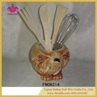 Wholesale Wholeasle Ceramic Utensil Crocks and Rack Kitchen Organizer Storage from china suppliers