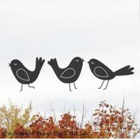 Wholesale Animals Art Birds Vinyl Wall Decals, Set of Three. from china suppliers