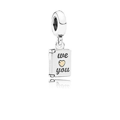 Quality Mothers Day card silver dangle with 14k for sale